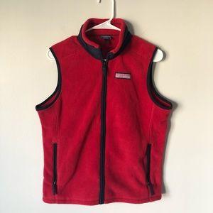 Vineyard Vines Woman's Red Fleece Vest Size XL